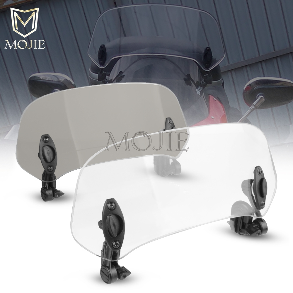 Motorcycle Windshield Extension Spoiler Windscreen Air Deflector For KYMCO K-XCT 300 CK300T 300i CK250T 300i NIKITA 200/300i image