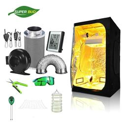 SuperBud Grow Tent Room Complete Kit Hydroponic Growing System 4