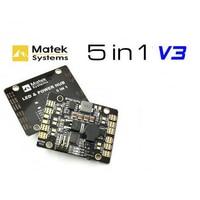 New Matek 5in1 V3 Power Distribution Board / PDB Hub With Dual BEC-5V/12V LED Controller Tracker Low Voltage Alarm for FPV