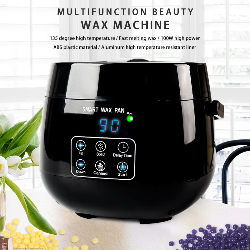 New Beauty Waxing Hair Removal 100W High-power Intelligent Touch Timing Panafin Non-stick Pan Hot Wax Machine Nail Art Tool