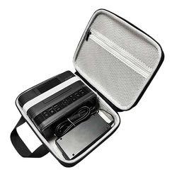 Bolsa de eva para viagem, saco de armazenamento com zíper para canon selphy cp1200 & cp1300 compacto sem fio