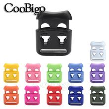 Clip Rope-Clamp Shoelace Stopper Toggle Cord-Lock Plastic 100pcs 4-Hole Garment Slide-Spring