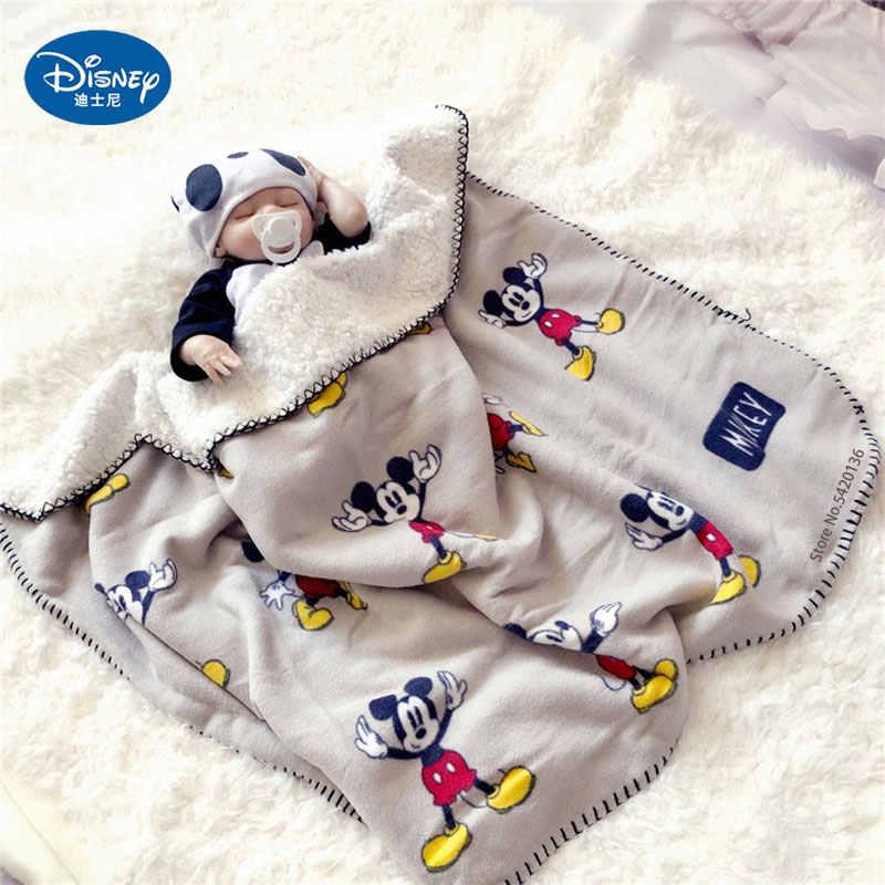 디즈니 만화 미키 마우스 사계절 두꺼운 슈퍼 부드러운 양털 아이 담요 어린이 소년 소녀 모피 담요 매트 선물을 던져