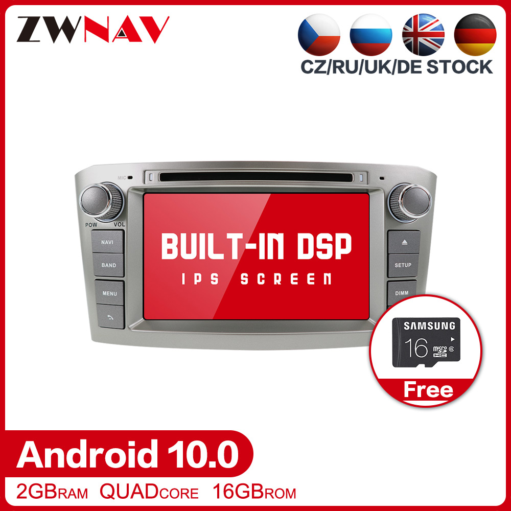 DSP <font><b>Android</b></font> 10.0 Car multimedia Player GPS Glonass Navigation for <font><b>Toyota</b></font> Avensis <font><b>T25</b></font> 2003-2008 Radio stereo head unit free map image