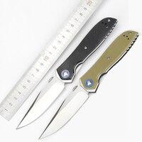 Gorąca sprzedaż składany nóż G10 uchwyt CPM20CV ostrze Utility taktyczne wojskowe łożyska kulkowe noże odkryty camping narzędzie edc w Noże od Narzędzia na
