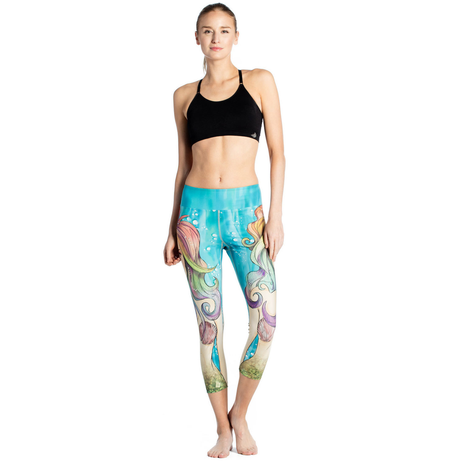 The New Submarine Doll Female Printing Slim S Breathable Sweat-absorbent Women's Seven Lady Pants Leggings