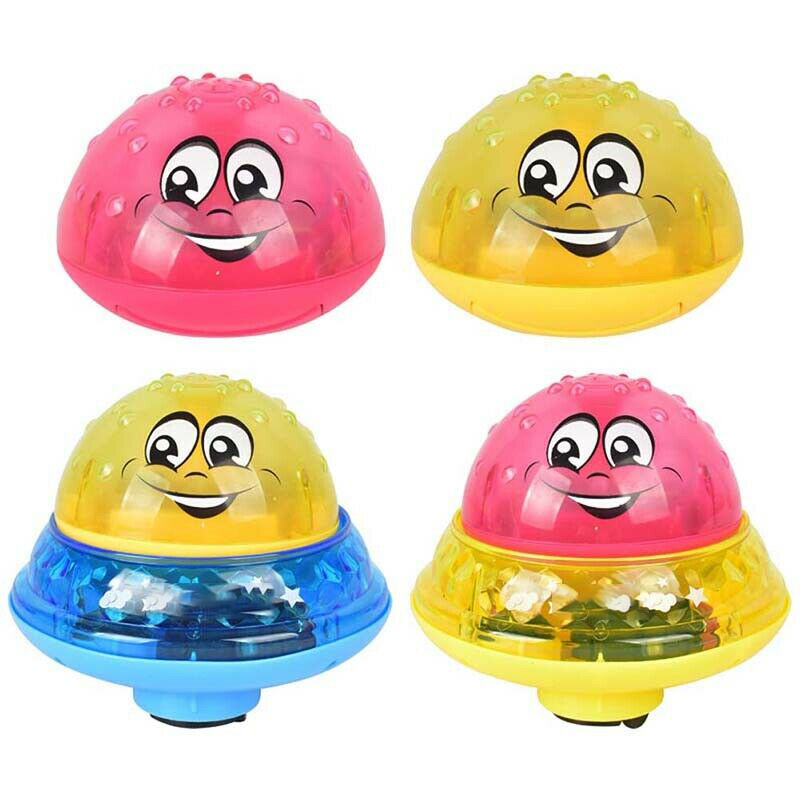 Ecofriendly Electric Induction Sprinkler Ball Water Spray Light Baby Bath Toy Automatic Music Lighting Effect Baby Toddlers Gift