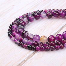 Purple Striped Agate Natural Stone Beads For Jewelry Making Diy Bracelet Necklace 4/6/8/10/12 mm Wholesale Strand