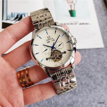 Top Brand Luxury Automatic Mechanical Watch Mens Watches Ceramics Sapphire Luminous Calendar Mechanical 007 Watch 96362