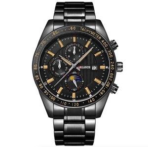 Image 5 - 크리 에이 티브 비즈니스 남성 시계 럭셔리 브랜드 스테인레스 스틸 손목 시계 크로노 그래프 육군 군사 석영 시계 relogio masculino