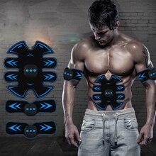 Умный EMS массажный стимулятор мышц живота тренажер Упражнение Вибрационный пресс для похудения Сжигание жира Тренажерное Оборудование USB зарядка
