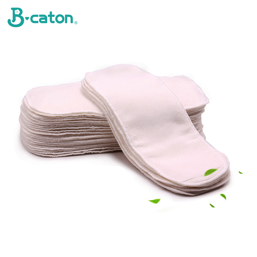 Baby Cotton Cloth Diapers Baby Diaper Reusable Washable Birdseye Fabric Built-In Absorbent Cotton Ventilation Soft Safe 35X15Cm