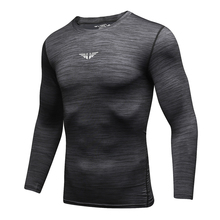 Gym Compression Athletic Dry Fit Men Running Workout Tights Long-Sleeve Fitness Sport Breathable Tracksuits