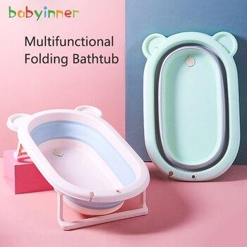 Baby Inner Large Size 80*50cm Baby Folding Bath Tub Baby Bathtub Children Bath Bucket Sit Lie Universal Newborns Supplies