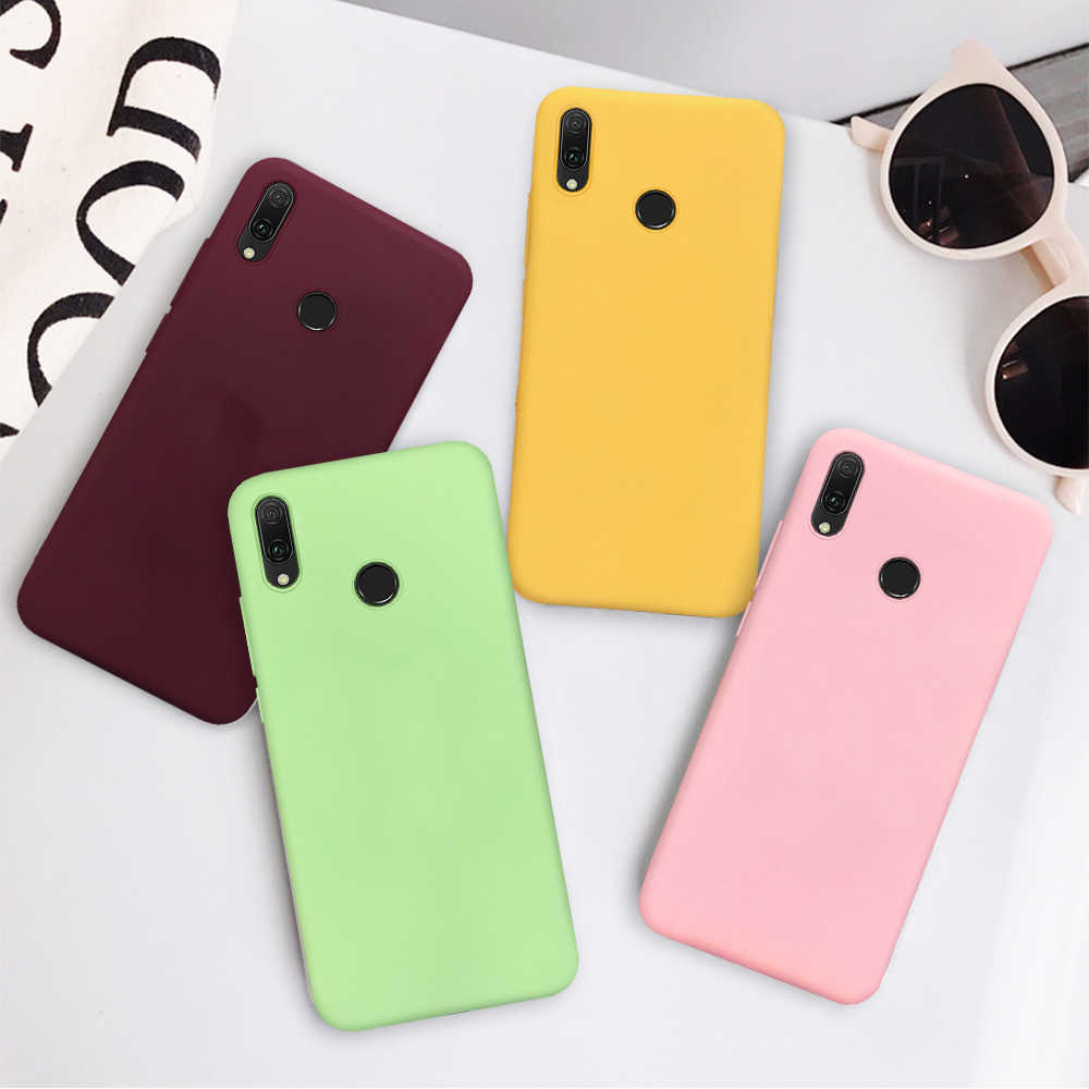 Candy Color Case For Huawei P30 P20 Lite P10 P30 Pro P Smart Plus 2019 Cover Case For Huawei Honor 8X 10 20i 9 20 Lite Capa Shel