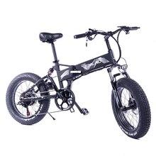 M6 20-дюймовый Электрический складной снег велосипедов 36v48v500w колеса 4,0 Алюминий сплав электромобиль bicicleta Лонгборда