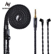 Yinyoo – câble plaqué argent à 16 cœurs, 2.5/3.5/4.4mm, câble équilibré avec MMCX/2PIN/QDC pour KZ ASX ZAX ZSX BLON BL-01 BL-03 CCA CA16