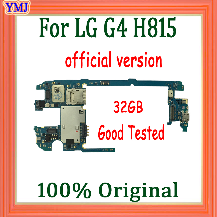 Official version for <font><b>LG</b></font> G4 <font><b>H815</b></font> <font><b>Motherboard</b></font>,32GB 100% Original unlocked for <font><b>LG</b></font> G4 <font><b>H815</b></font> Mainboard with full Chips,Good Tested image