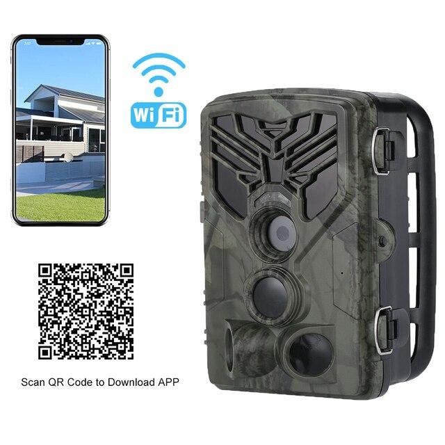 Live Show Wild Trail Camera  Wifi APP Bluetooth Control Hunting Cameras Wifi830 20MP 1080P Night Vision Wildlife  Photo Traps 5