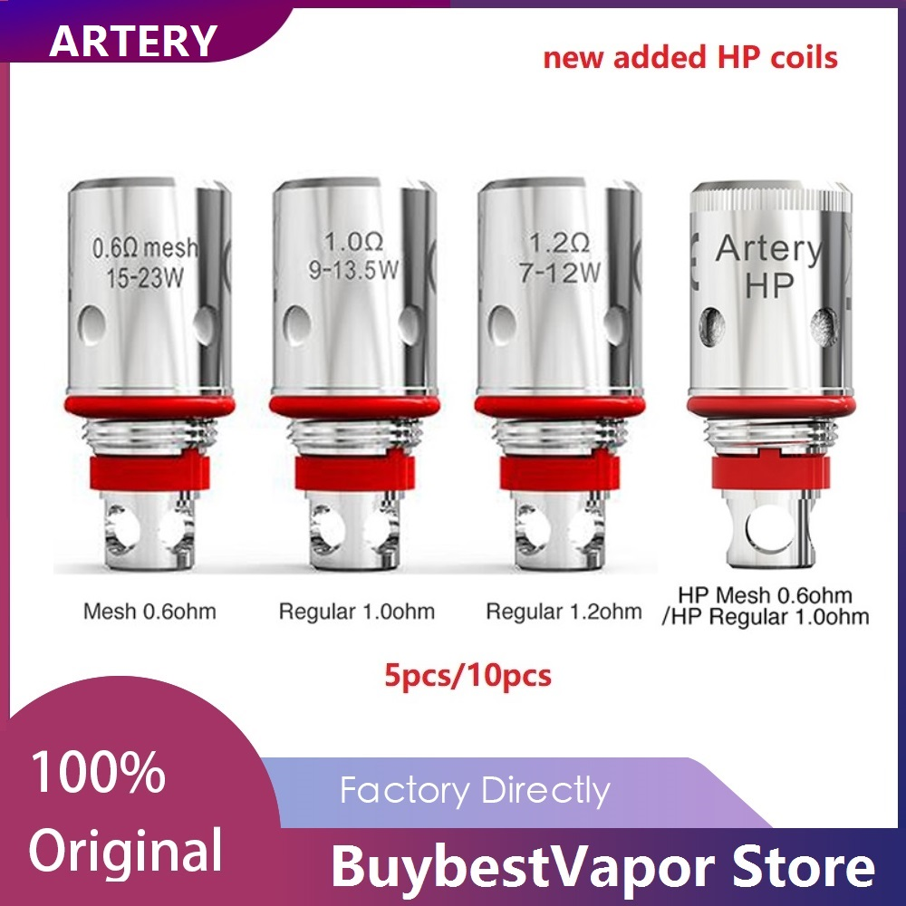 5pcs/10pcs 100% Original Artery PAL 2 Coil With 0.6ohm Mesh Coil/ 1.2ohm Regular Coil For PAL 2 Pod Kit PAL II Coil Head