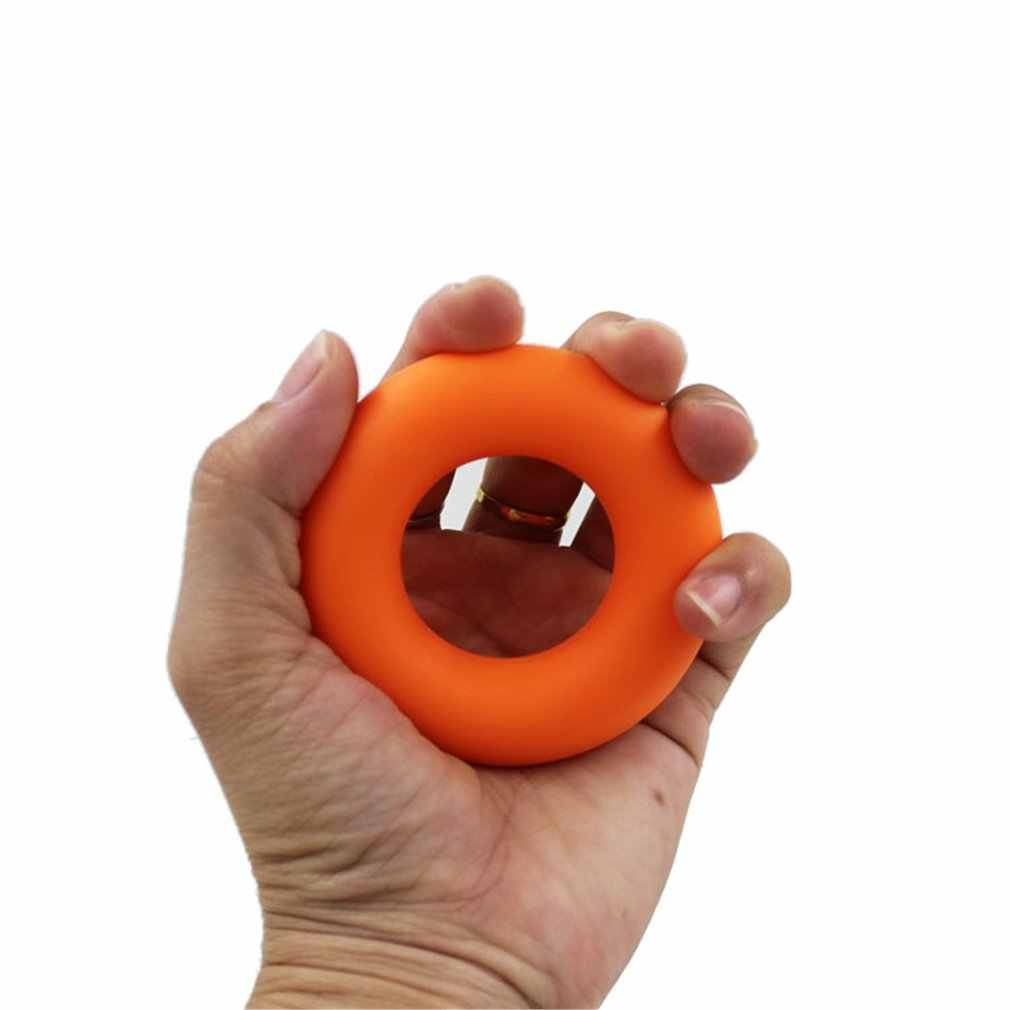 Agarre de mano de Fitness entrenador antebrazo fuerza agarre de silicona en forma de 30/40/50 lbs anillo de agarre para evitar el masaje de la mano del ratón