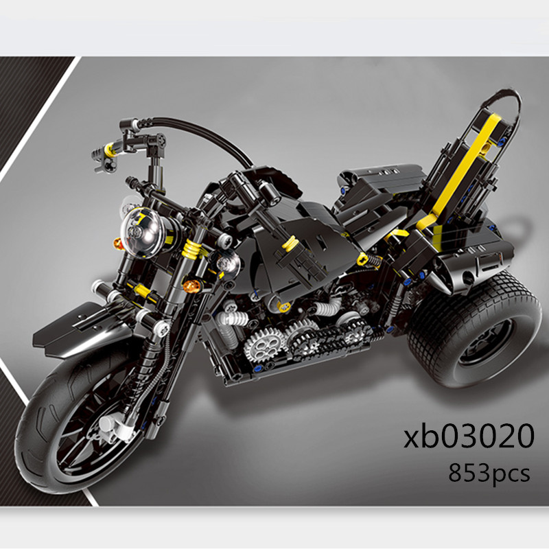 XINGBAO LepinED Technic MOC R1200 GS Heavy Moto Motorcycle Model Building Blocks Toys For Kids Bricks Classic Educational Gifts 2