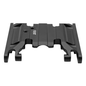 Image 3 - KYX yarış şanzıman alt taban montaj orta kızak plakası yükseltmeleri parçaları aksesuarları RC paletli araba Axial SCX10 II 90046