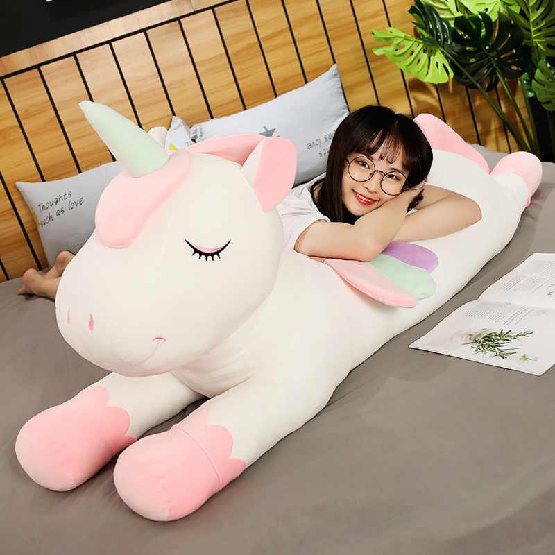 新しいクッション枕カラフルなペガサス枕天使ユニコーンぬいぐるみ人形子供の誕生日ギフトバレンタインの日ギフト