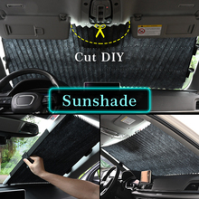 Car Retractable Curtain With Uv Protection Sunshade Window Upgarde SUV Truck Front Windshield