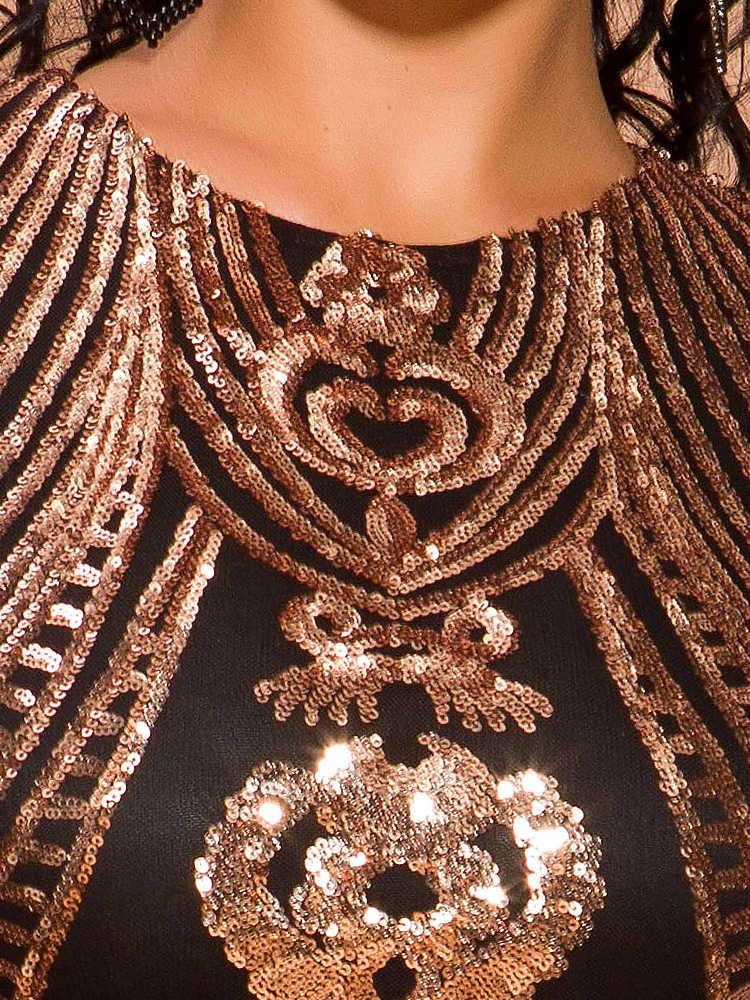 Tosheiny 2019 femmes Sexy O cou épaules nues Sequin robes femme élégant sans manches Mini robe de soirée Vestdios TH8205