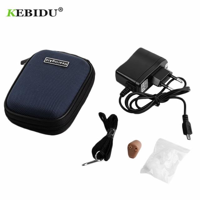 Kebidu K 88 補聴器充電式ミニ補聴器サウンドアンプ見えない聞くクリア高齢者のための耳ケアツール