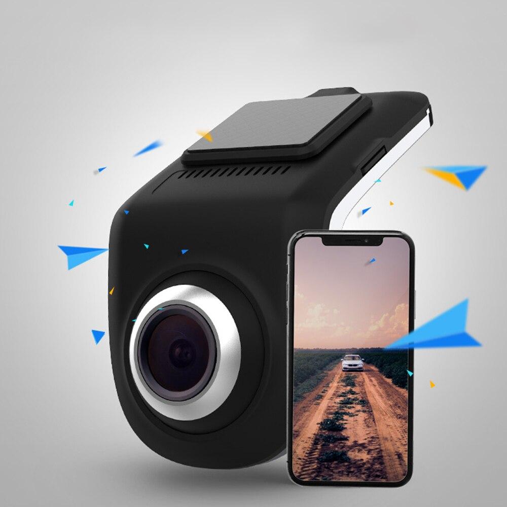Grabadora oculta inalámbrica Wifi de alta definición de doble lente de visión nocturna 24 horas monitoreo de aparcamiento cámara de seguridad del coche Dashcam U9
