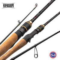 Kingdom KO II Fishing Rods All FUJI Accessories 1.8m 1.98m 2.13m 2.28m Travel Ultra Light Casting and Spinning rods Lure 1g 40g