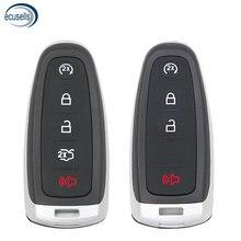 4 botões 5 botões remoto chave fob caso escudo para ford edge explorer escape flex foco para lincoln mks mkt h101 h75 pequena chave