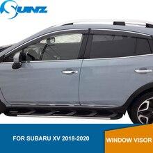 цена на Car Window Deflector Visor For Subaru XV 2018 2019 2020  Window Visor Vent Shades Sun Rain Deflector Guard car styling SUNZ