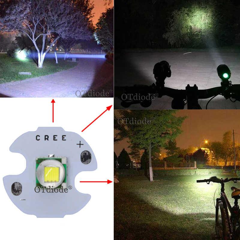 1PCS CREE XML XM-L T6 LED U2 10W קר לבן חם לבן כחול אדום ירוק UV LED פולט דיודה עם 12mm 14mm 16mm 20mm PCB עבור DIY