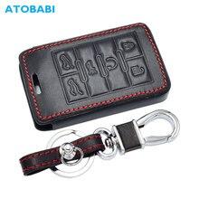가죽 자동차 키 커버 캐딜락 에스컬레이드 SRX XTS ATSL SLS CTS STS ATS BLS 스마트 열쇠가없는 항목 원격 Fob 케이스 키 체인 가방