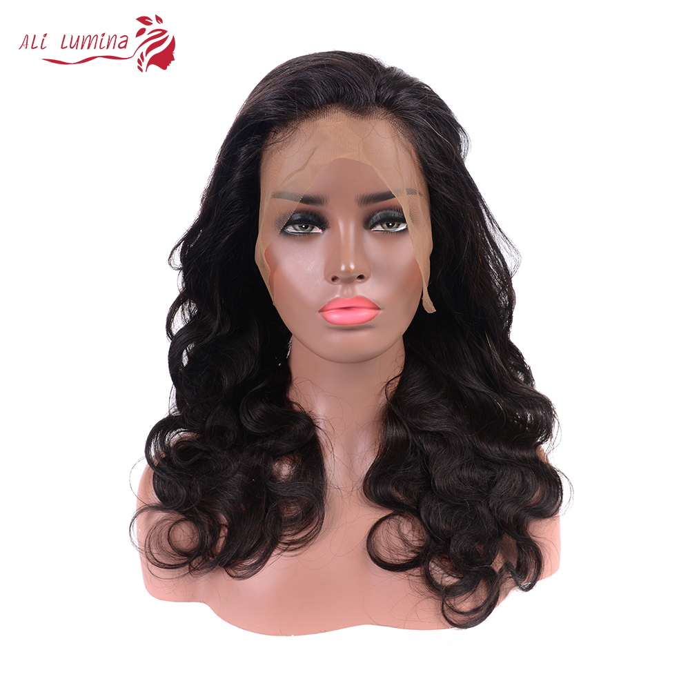 Ali Lumina 360 Lace Front Wig Body Wave Remy Hair Wig With Lace Front Brazilian Pre Plucked Hair Line Wig