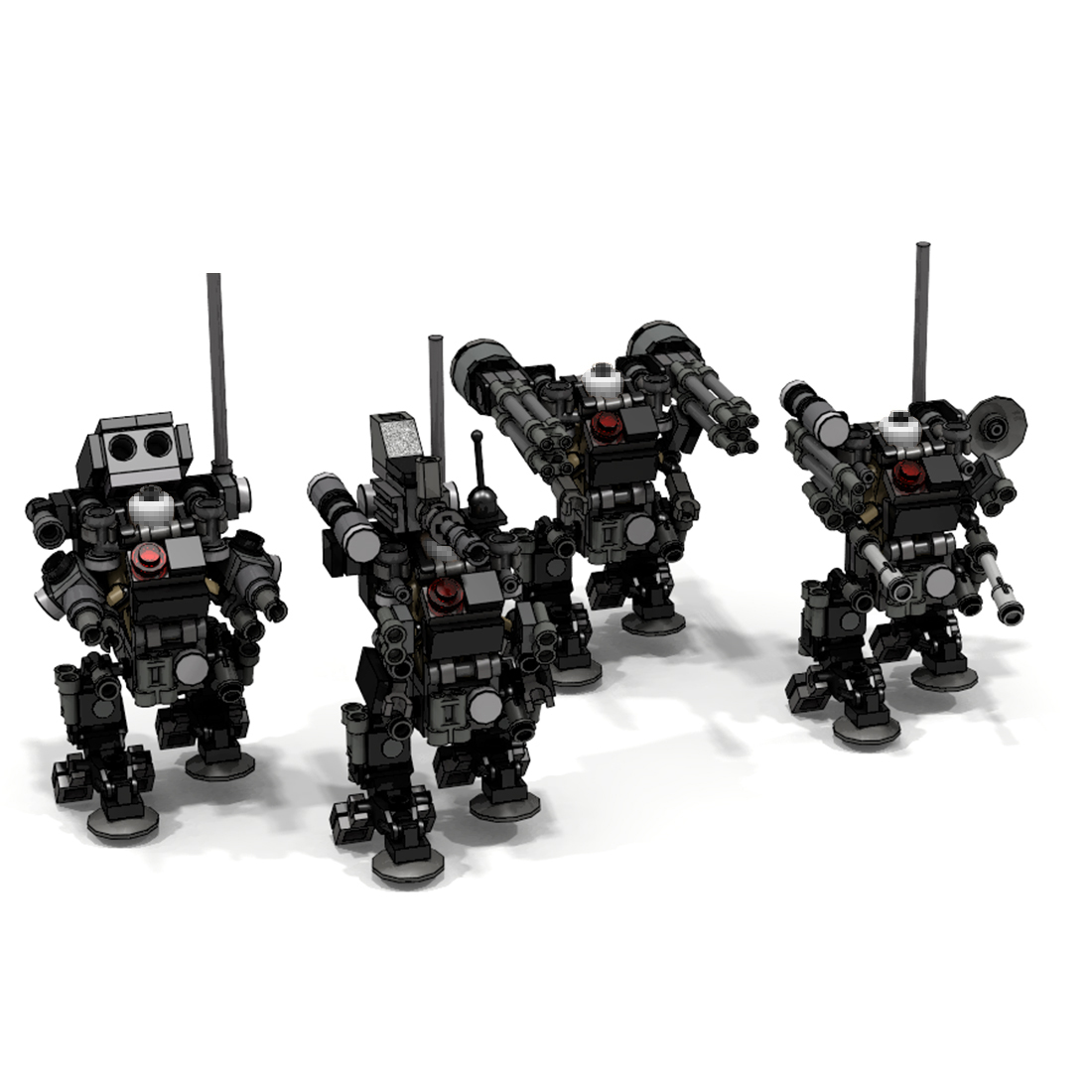 MOC Mini Tratical Trooper Sniper Trooper Model Small Particle Building Blocks Educational Toy Model Building Set Birthday Gift
