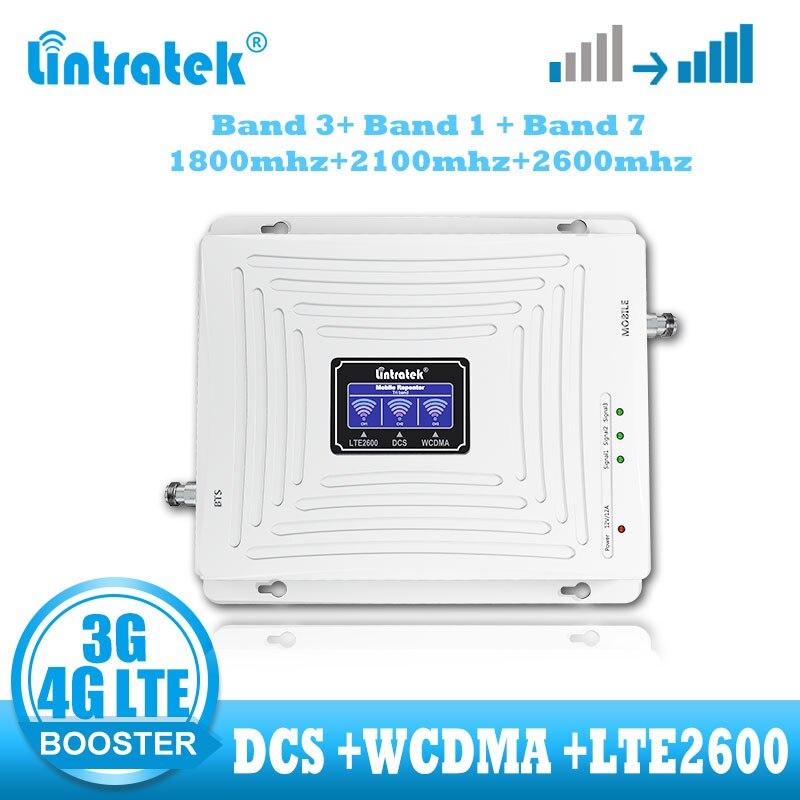 Lintratek LTE 4G Signal Booster 2G DCS 1800 WCDMA 2100 LTE 2600 Cellular Signal Amplifier  UMTS 3g Voice 4g Internet Repeater