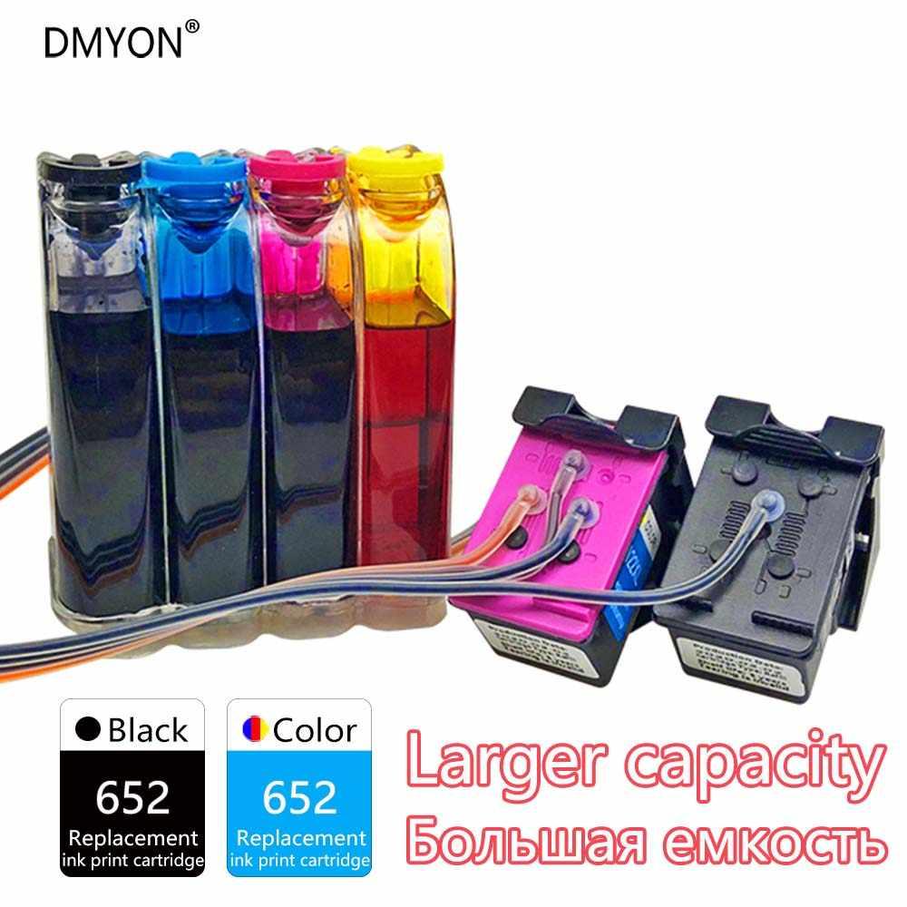 DMYON 652 system stałego zasilania atramentem kompatybilny do HP 652 Ciss Deskjet 1118 2135 2136 2138 3635 3636 3638 3838 3835 drukarki