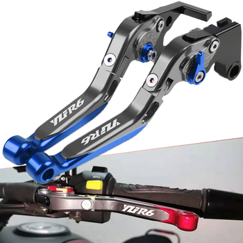For YAMAHA YZFR6 YZF-R6 YZF R6 1999 2000 2001 2002 2003 2004 Motorcycle Clutch Brake Lever Extendable Adjustable Handle Grips for yamaha yzf r1 yzf r6 2002 2003 1999 2004 with logo cnc motorcycle adjustable brake clutch levers folding extendable