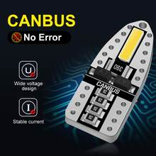 10Pcs T10 W5W Canbus Geen Fout 168 194 Led Lamp 6000K Witte Auto Interieur Verlichting 7020 Chips Auto claerance Wedge Side Reverse Lamp(China)