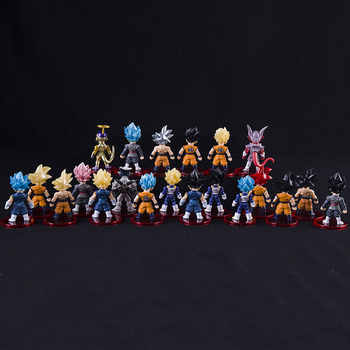7cm Real Goku Dolls Dragon Ball set PVC Goku Vegeta Freezer Vegetto Anime Collection Character Model Toys 21pcs/set - DISCOUNT ITEM  28% OFF All Category