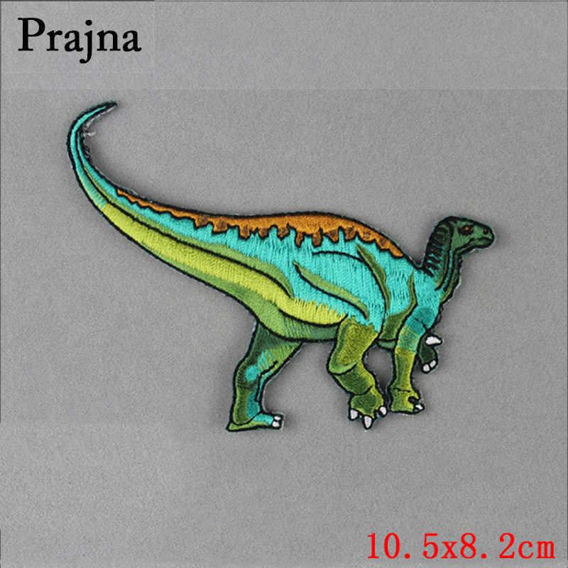 FAI DA TE Jurassic Dinosauro Patch di Banda Ricamato Toppe e Stemmi Per I Vestiti Strisce Sui Vestiti Applique Sui Vestiti Giacca Vestiti Distintivi e Simboli