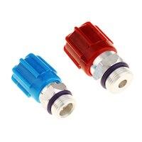 1 par a/c sistema tampa & válvula núcleos rápido seall kit para ar condicionado