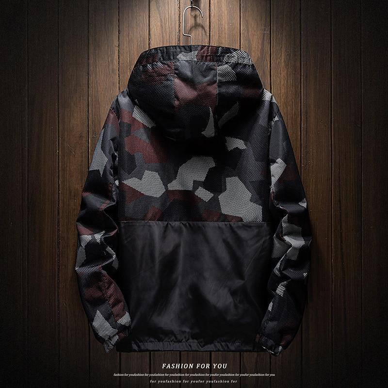 Spring/summer 2020 new fashion hooded windbreaker, camouflage men's jacket light windbreaker jacket large men's jacket S-6XL 7XL