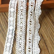2 cm de largura luxo branco bordado flores malha laço applique borda da fita guarnição para vestidos casamento véu cabeça diy costura suprimentos