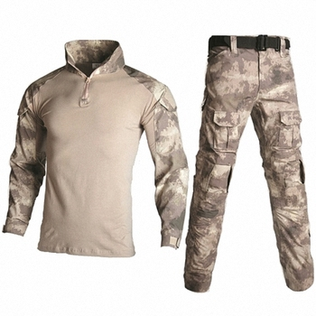 Military Uniform Tactical Camouflage Clothes Suit Men US Army Clothing Women Airsoft Military Combat Shirt Cargo Pants Knee Pads 7