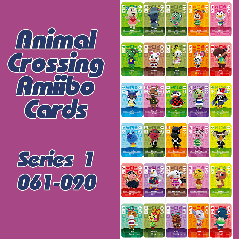 Animal Crossing New Horizons Amiibo Card For NS Switch 3DS Game Lobo Card Set Series 1 (061-090)
